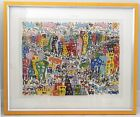 """JAMES RIZZI """"CROSSTOWN TRAFFIC"""" 1983 SIGNED 3-D CONSTRUCTION SERIGRAPH ~ 34x40"""