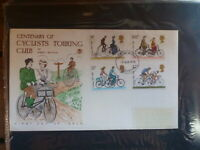 GREAT BRITAIN 1978 CENTENARY CYCLISTS CLUB SET 4 STAMPS FDC FIRST DAY COVER