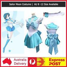 Light Blue Sailor Moon Costume Cosplay Uniform Fancy Dress Up Hens Party +Gloves