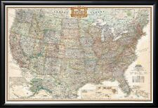 Framed United States Map by NatGeo Perfect for Tracking Trips Executive Frame