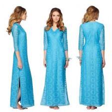 Lilly Pulitzer $218 NWT Sharrie Caftan Ariel Blue King Street Lace Crochet Sz S