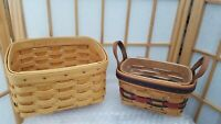 1993 Longaberger All Star Basket with Insert + Small Classic Recipe Basket LOT