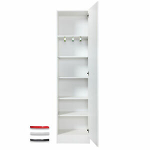 Schrank STEFFEN - Modulares Möbelystem - 40 cm tief - 6 Fächer - Weiß