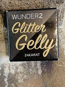 Wunder2 Glitter Gelly 24 Karat Long Lasting Face Body Eye Glittered Gel 0.05 oz
