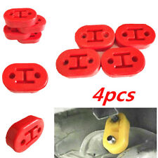 4pcs Red 11mm Car Rubber Exhaust Tail Pipe Mount Brackets Hanger Insulator 2Hole