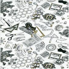 Tijeras/Máquina de Coser/Cinta Métrica: cuarto Gordo Tela Patchwork Quilting