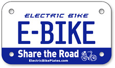 "***** E-BIKE Electric Scooter Bicycle License Plate 4""x7"" *****"