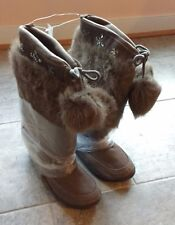 NEW Sz 5 Gap Kids Brown Winter Boots Shoes Faux Fur