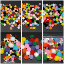 Mini Craft POM POMS Mixed Colour 6mm 8mm 10mm 20mm or Mixed Halloween Cardmaking