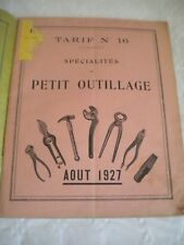 Vintage catalogue Tools woodwork metal work saws vices planes Goniche 1927