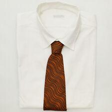 NUOVO VERRI arancione e nero righe cravatta di seta - ORIGINALE