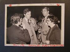 Glossy Press Photo Senator Edward Burke smoking Cigar