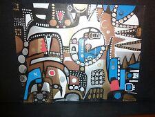 "Kourosh Amini Colorful Abstract Acrylic Painting ""FIASCO"" 2006"