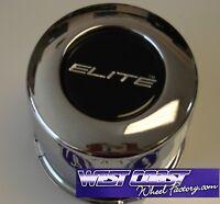 Elite Full Chrome Metal Wheel Push Thru Replacement Center Cap Part# 10734