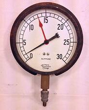 Antique James P March Corp Altitude Gauge Chicago IL