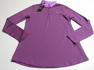 Under Armour Women's UA Zinger Long Sleeve Polo 1356640 Nwt