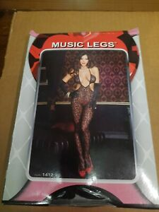 New Music Legs 1412 Lace Cut Out Bodystocking