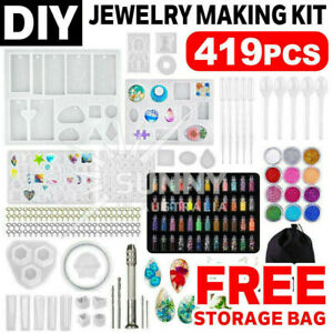 419X DIY Jewelry Mould Handmade Crystal Glue Making Set Resin Silicone Mold Kit