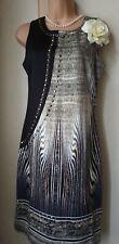 Bnwt(£30)Size 8 Vintage 1920s Style Embellished Dress Flapper/Gatsby/Deco(1407)