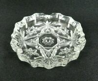 Vintage Anchor Hocking Early American Prescut Ashtray Clear Glass 4""