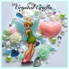 Disney Tinkerbell Theme CABOCHON Gems & Pearls Flatbacks for Decoden Crafts #1