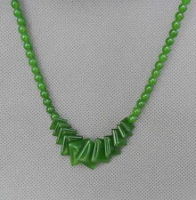 Chinese Handmade Decoration Exquisite Green Jade Elegant Necklace Noble Ornament