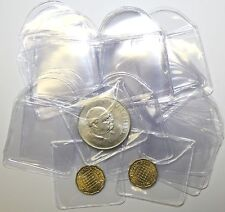 "Plastic Coin Envelopes or Holders 2"" x 2"" With Tuck in Flap x100"