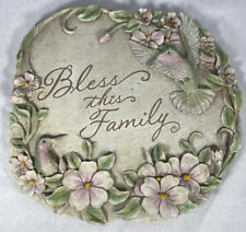 Bless This Family Hummingbird Garden Stepping Stone