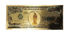 Santa muerte - Gold Color- Holy Death million dollar bill - Money - Protection
