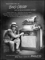 1941 Bing Crosby Time ABC Philco Radio Phonograph vintage photo Print Ad  adL46