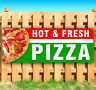 HOT FRESH PIZZA Advertising Vinyl Banner Flag Sign Many Sizes Available