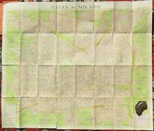 MAP MILAN C1935 STREET INDEX NUOVA PIANTA DI MILANO