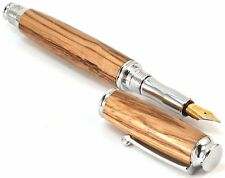 Wood Fountain Pen, Handmade Ink Pen, Zebrawood (Roller/Fountain) (AS-VI-03)