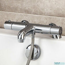 Bathroom Thermostatic Bath Shower Mixer Valve Chrome Modern Taps Deck Mounted