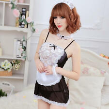 Sexy Women French Maid Lingerie Valentine Costume Cosplay Outfit Dress Nightwear