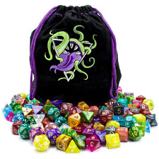Wiz Dice Bag of Devouring 140 Polyhedral Dice in 20 Guaranteed Complete Sets New