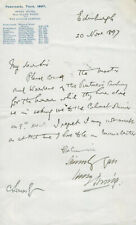 Bram Stoker Manuscript Letter SIGNED & AUTOGRAPHED by Henry Irving 1897