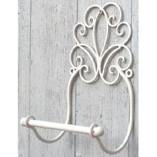 Shabby Chic Toilet Roll Holder French Vintage Wall Mounted WC Loo Ivory Cream