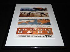 The Amazing Race 2004 CBS Framed 11x14 ORIGINAL Advertisement