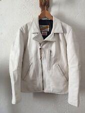 Supreme x schott perfecto veste blanche en cuir taille S