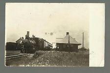 Ceylon MINNESOTA RP 1914 DEPOT TRAIN at STATION nr Fairmont Jackson Dunnell