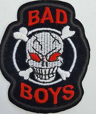 Bad Boys Skull and Crossbones Iron On Badge Transfer Iron on Patch