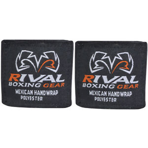 """Rival Boxing 200"""" Mexican Style Handwraps - Black"""