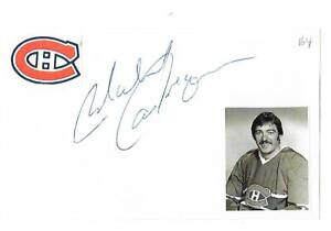 Michel Larocque Autographed 3x5 Index Card Montreal Canadiens Very Rare Dec 1992