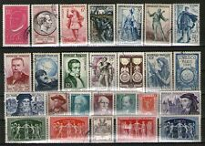 TIMBRES ANNEES 50 OBLITERES TB - PERSONNAGES CELEBRES ET UPU  - COTE 27.20 EUROS