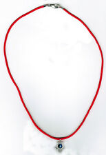 Kabbalah Evil Eye  Necklace Red String & Silver Hamsa Hand  For Good Luck