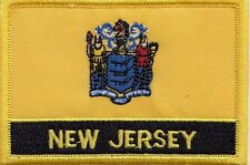New Jersey State USA Flag Embroidered Patch Badge - Sew or Iron on