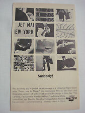 1964 United Airlines Ad Suddenly You're Part of a United Jet Flight