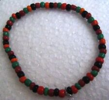 stone seed beads multi colors Hand made vintage bracelet stretch