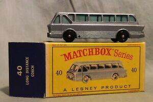 Matchbox Lesney #40 Long Distance Coach, Original Box, between 60s/70s